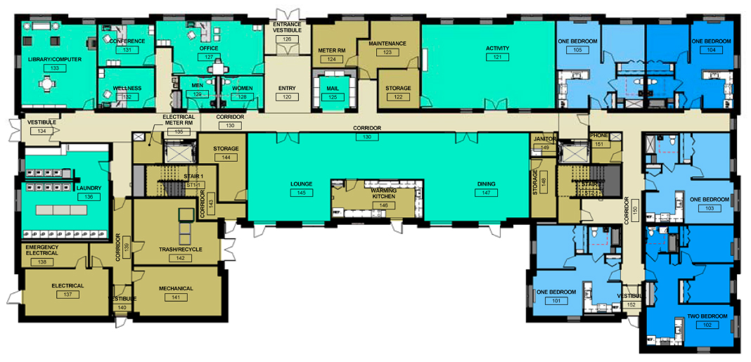 Building Layout - Midway Pointe